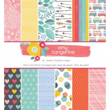 "American Crafts Amy Tangerine Oh Happy Life 6""x6"" Paper Pad 376221 36 Sheets"