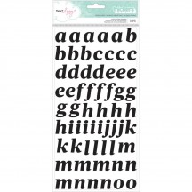 American Crafts Dear Lizzy Saturday Black Puffy Letter Thickers 376266