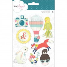 American Crafts Dear Lizzy Lovely Day Adhesive Layered Stickers 376953