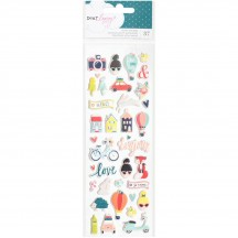 American Crafts Dear Lizzy Lovely Day Mini Icon Puffy Stickers 376954