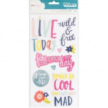 American Crafts Dear Lizzy Lovely Day Lovely Chipboard Phrase Thickers 376956