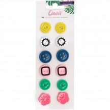 Crate Paper Oasis Decorative Buttons Embellishments 378998