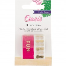 Crate Paper Oasis Gold Foil Fun & Pineapple Washi Tape 378999