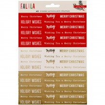 Crate Paper FaLaLa Foiled Phrase Christmas Stickers 379056