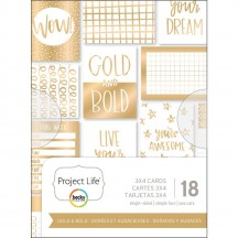 "Becky Higgins Project Life Gold & Bold 3""x4"" Card Pad 380092"