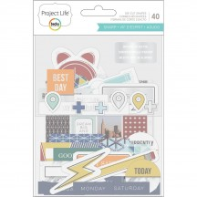 Becky Higgins Project Life Sharp Ephemera Die-Cut Cardstock 380116