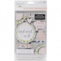 Becky Higgins Project Life Southern Weddings Chipboard Sticker Embellishments 380471