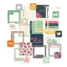 """Becky Higgins Project Life 4""""x4"""" Journaling Cards - Inked Rose 380513"""