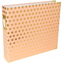 "Becky Higgins Project Life Blush Dot D-Ring 12""x12"" Scrapbooking Album 380561"