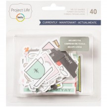 Becky Higgins Project Life Currently Ephemera Die-Cut Cardstock 380622