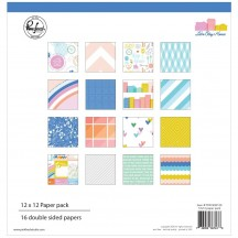 "Pinkfresh Studio Let's Stay Home 12""x12"" Collection Kit PFRC400120"