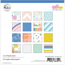 "Pinkfresh Studio Let's Stay Home 6""x6"" Paper Pack PFRC400220"