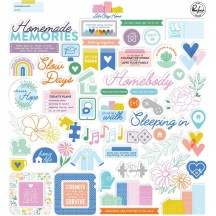 Pinkfresh Studio Let's Stay Home Die-Cut Cardstock Ephemera Pack PFRC400420