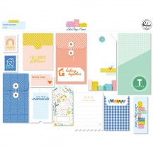 Pinkfresh Studio Let's Stay Home Journaling Bits Stationery Ephemera Pack PFRC400620