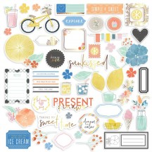 Pinkfresh Studio Simple & Sweet Die-Cut Cardstock Ephemera Pack PFSS400418