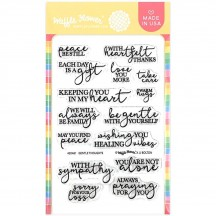 Waffle Flower Tender Thoughts Clear Stamp Set 420461