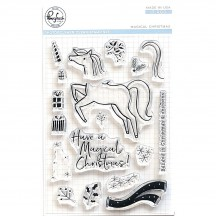 "Pinkfresh Studio Magical Christmas 4""x6"" Clear Stamp Stamp Set PFCS4218"
