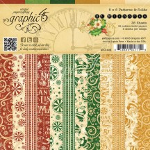 "Graphic 45 St Nicholas Patterns & Solids Christmas 6""x6"" Paper Pad 36 sheets 4501409"