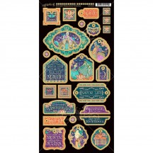 Graphic 45 Midnight Masquerade Die-Cut Chipboard Decorative Sheet 4501552