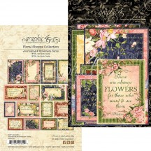 Graphic 45 Floral Shoppe Journaling & Ephemera Cards 4501701