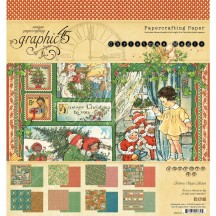 "Graphic 45 Christmas Magic 8""x8"" Paper Pad 24 sheets 4501734"