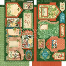 Graphic 45 Christmas Magic Double-Sided Cardstock Tags and Pockets 4501738