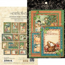 Graphic 45 Christmas Magic Journaling & Ephemera Cards 4501739