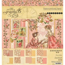 "Graphic 45 Princess Designer 8""x8"" Paper Pad 24 sheets 4501799"