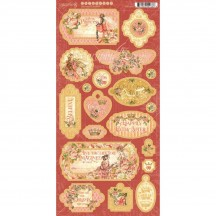 Graphic 45 Princess Die-Cut Decorative Chipboard Sheet 4501803
