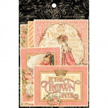 Graphic 45 Princess Journaling & Ephemera Cards 4501805