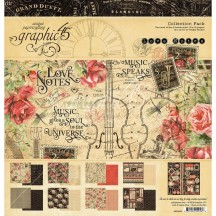 """Graphic 45 Love Notes 12""""x12"""" Collection Pack 4501826"""