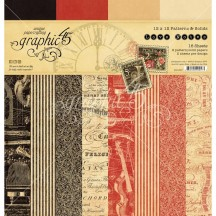 """Graphic 45 Love Notes Patterns & Solids 12""""x12"""" Paper Pad 16 sheets 4501827"""