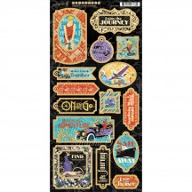 Graphic 45 Life's a Journey Die-Cut Decorative Chipboard Sheet 4501948