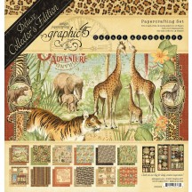 Graphic 45 Safari Adventure Deluxe Collectors Edition Pack 4502022