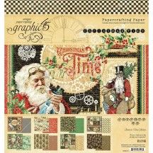 "Graphic 45 Christmas Time Designer 8""x8"" Paper Pad 4502118"