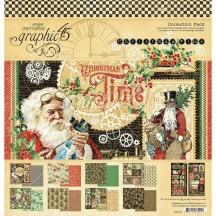 "Graphic 45 Christmas Time 12""x12"" Collection Pack 4502119"