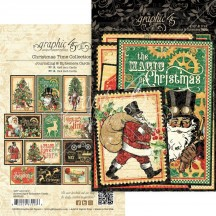 Graphic 45 Christmas Time Journaling & Ephemera Cards 4502123