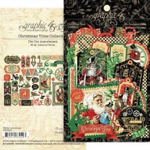 Graphic 45 Christmas Time Die-Cut Cardstock Ephemera Pieces 4502124