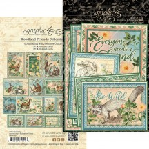 Graphic 45 Woodland Friends Journaling & Ephemera Cards 4502139