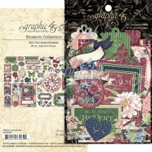 Graphic 45 Blossom Die-Cut Cardstock Ephemera Pieces 4502165