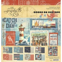 "Graphic 45 Catch of the Day 12""x12"" Collection Pack 4502176"