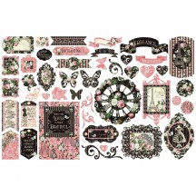 Graphic 45 Elegance Die-Cut Cardstock Ephemera Pieces 4502200