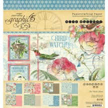 "Graphic 45 Bird Watcher Designer 8""x8"" Paper Pad 4502210"