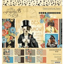 """Graphic 45 Well Groomed Designer 8""""x8"""" Paper Pad 4502265"""
