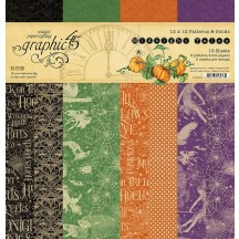 """Graphic 45 Midnight Tales Patterns & Solids 12""""x12"""" Paper Pad 4502282"""