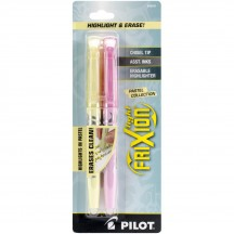 Pilot FriXion Highlight & Erase Pens - Yellow and Pink