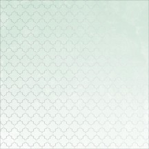 "Kaisercraft Lilac Whisper Aqua 12""x12"" Foiled Embossed Paper PS492"