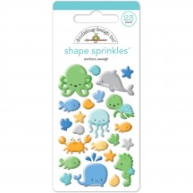 Doodlebug Anchors Aweigh Sprinkles Sea Creatures Enamel Shapes 4956