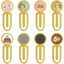Simple Stories The Reset Girl Metal Clips 4988