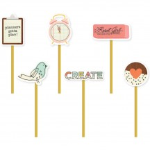 Simple Stories The Reset Girl Decorative Clips 4989